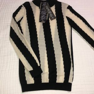L.A.M.B. Gwen Stefani Geo Stripe Wool Sweater Sz S